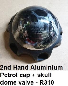 Picture of Aluminium Petrol cap + dome skull valve